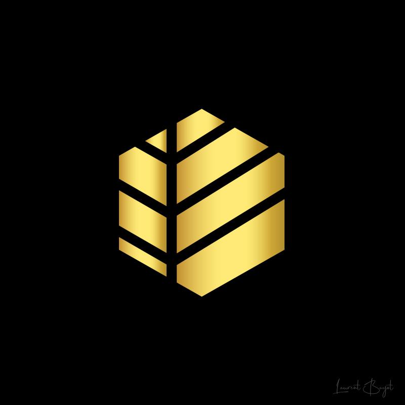 logo premium or touche de style